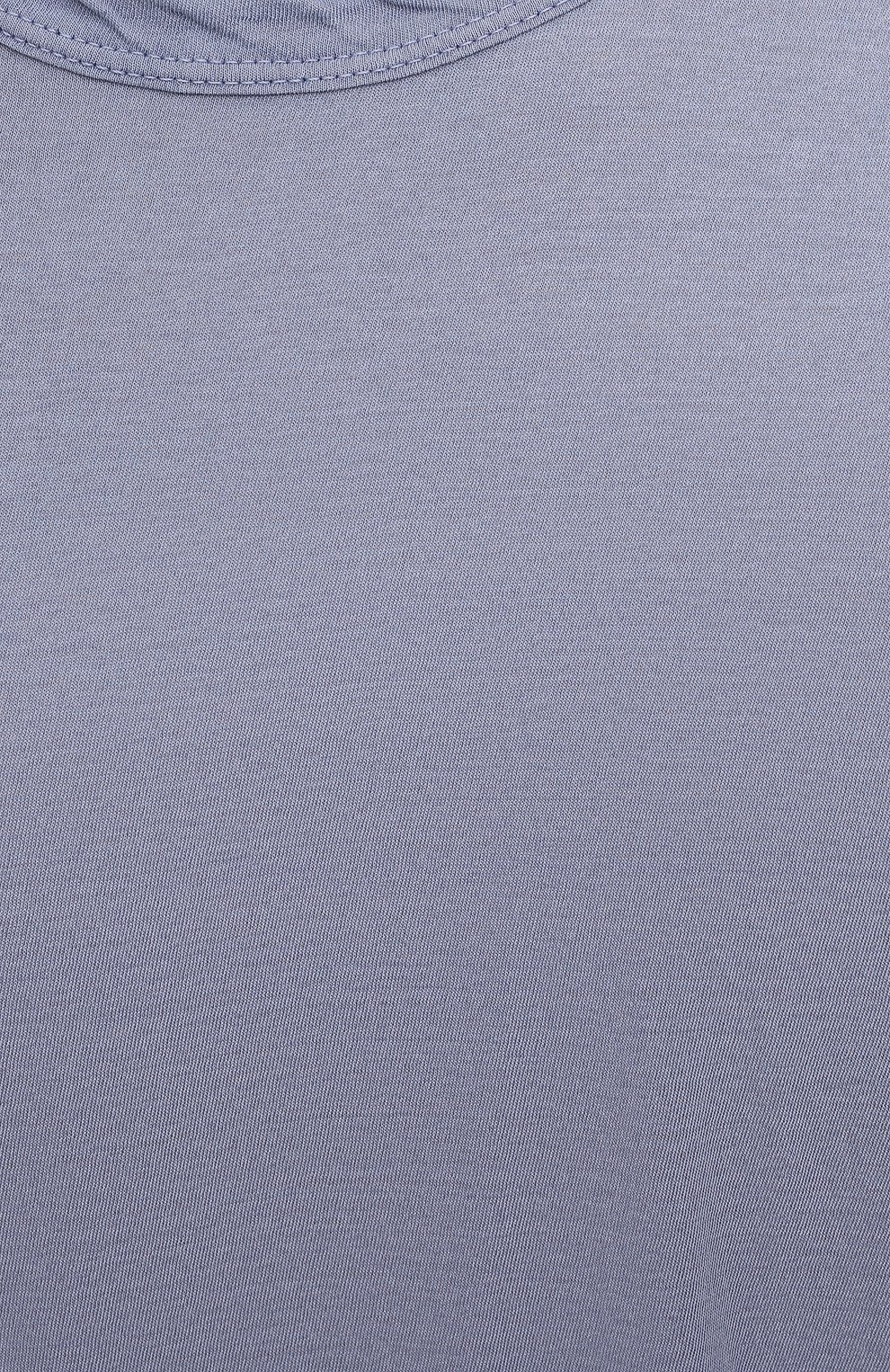 Мужская хлопковая футболка JAMES PERSE голубого цвета, арт. MKJ3360 | Фото 5 (Принт: Без принта; Рукава: Короткие; Длина (для топов): Удлиненные; Материал внешний: Хлопок)