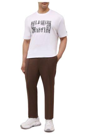 Мужская хлопковая футболка PAUL&SHARK белого цвета, арт. 11311646/C00/3XL-6XL | Фото 2 (Рукава: Короткие; Материал внешний: Хлопок)