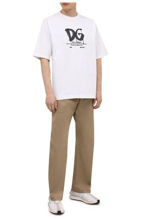 Мужская футболка DOLCE & GABBANA белого цвета, арт. G8NG3T/FUGK4 | Фото 2
