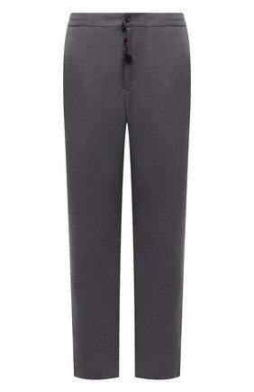 Мужские брюки из шерсти и кашемира MARCO PESCAROLO серого цвета, арт. CHIAIAM/ZIP+SFILA/4438 | Фото 1 (Длина (брюки, джинсы): Стандартные; Материал внешний: Шерсть, Кашемир; Случай: Повседневный; Стили: Кэжуэл)