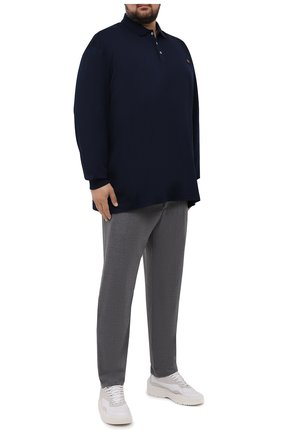 Мужские брюки из шерсти и кашемира MARCO PESCAROLO серого цвета, арт. CHIAIAM/ZIP+SFILA/4438 | Фото 2 (Длина (брюки, джинсы): Стандартные; Материал внешний: Шерсть, Кашемир; Случай: Повседневный; Стили: Кэжуэл)