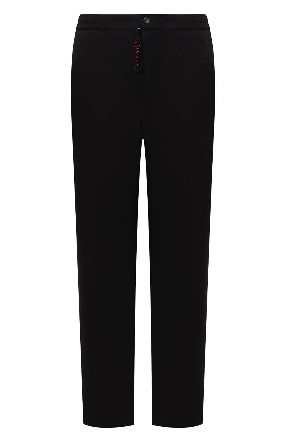 Мужские брюки из шерсти и кашемира MARCO PESCAROLO черного цвета, арт. CHIAIAM/ZIP+SFILA/4438 | Фото 1 (Материал внешний: Шерсть, Кашемир; Длина (брюки, джинсы): Стандартные; Случай: Повседневный; Стили: Кэжуэл)