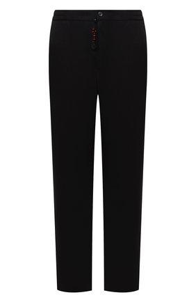 Мужские брюки из шерсти и кашемира MARCO PESCAROLO черного цвета, арт. CHIAIAM/ZIP+SFILA/4438 | Фото 1 (Материал внешний: Кашемир, Шерсть; Длина (брюки, джинсы): Стандартные; Случай: Повседневный; Стили: Кэжуэл)