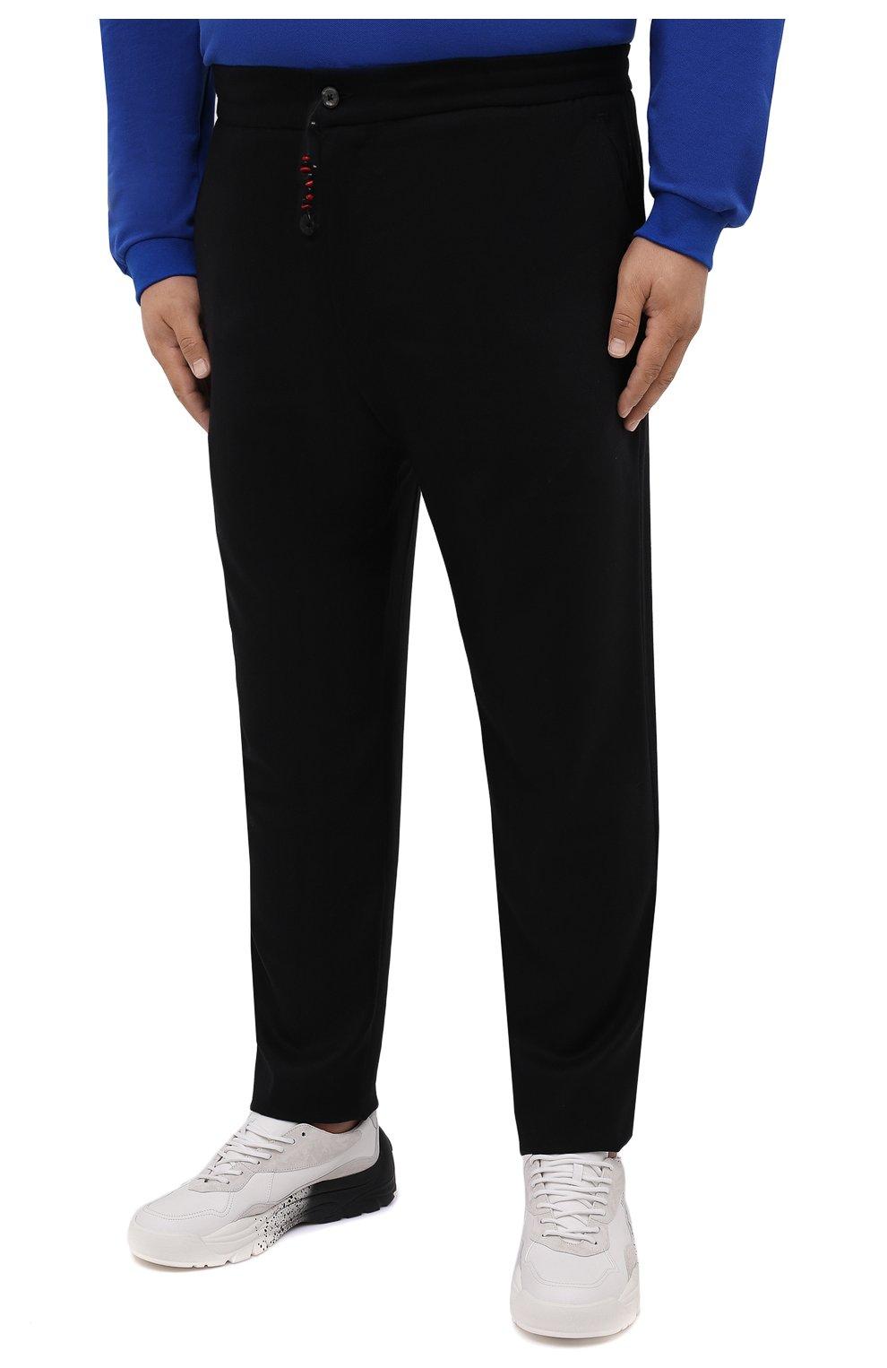 Мужские брюки из шерсти и кашемира MARCO PESCAROLO черного цвета, арт. CHIAIAM/ZIP+SFILA/4438 | Фото 3 (Материал внешний: Шерсть, Кашемир; Длина (брюки, джинсы): Стандартные; Случай: Повседневный; Стили: Кэжуэл)