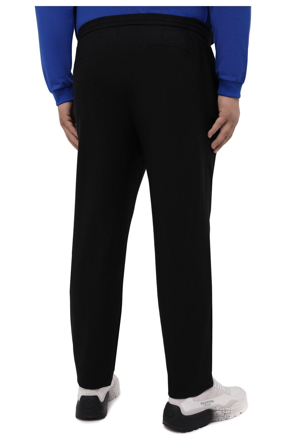 Мужские брюки из шерсти и кашемира MARCO PESCAROLO черного цвета, арт. CHIAIAM/ZIP+SFILA/4438 | Фото 4 (Материал внешний: Шерсть, Кашемир; Длина (брюки, джинсы): Стандартные; Случай: Повседневный; Стили: Кэжуэл)