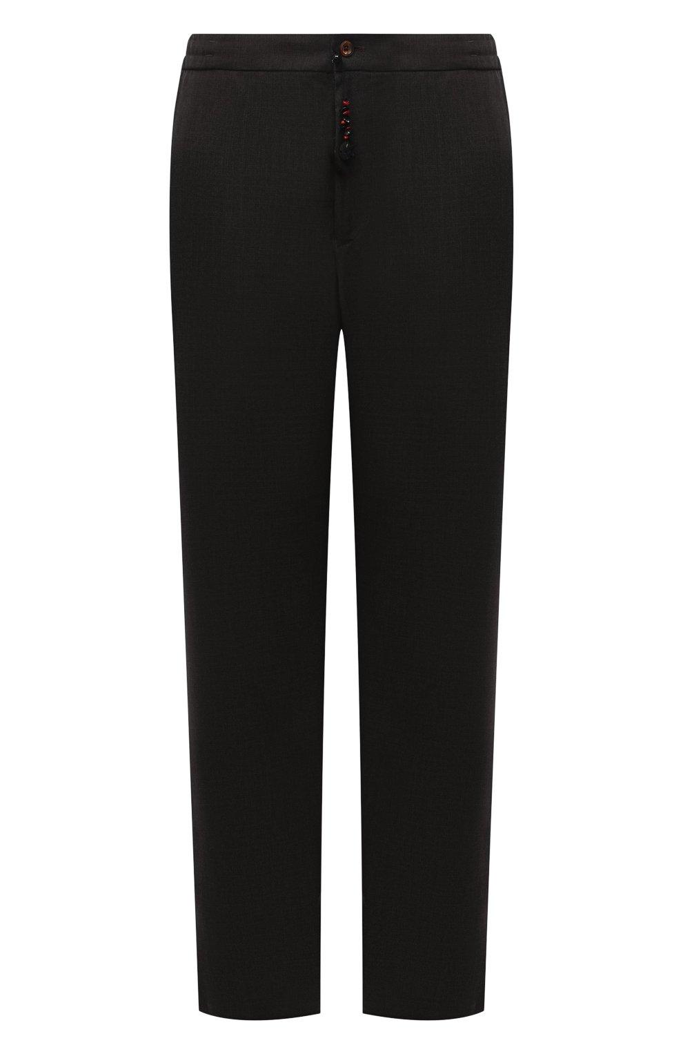Мужские кашемировые брюки MARCO PESCAROLO темно-зеленого цвета, арт. CHIAIAM/ZIP+SFILA/4442   Фото 1 (Материал внешний: Шерсть, Кашемир; Длина (брюки, джинсы): Стандартные; Случай: Повседневный; Стили: Кэжуэл)