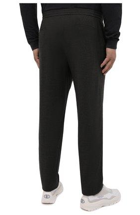 Мужские кашемировые брюки MARCO PESCAROLO темно-зеленого цвета, арт. CHIAIAM/ZIP+SFILA/4442   Фото 4 (Материал внешний: Шерсть, Кашемир; Длина (брюки, джинсы): Стандартные; Случай: Повседневный; Стили: Кэжуэл)