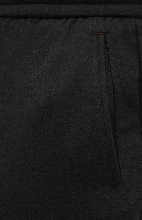 Мужские кашемировые брюки MARCO PESCAROLO темно-зеленого цвета, арт. CHIAIAM/ZIP+SFILA/4442   Фото 5 (Материал внешний: Шерсть, Кашемир; Длина (брюки, джинсы): Стандартные; Случай: Повседневный; Стили: Кэжуэл)