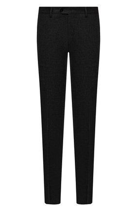 Мужские брюки из шерсти и кашемира MARCO PESCAROLO темно-серого цвета, арт. SLIM80/ZIP/4431 | Фото 1