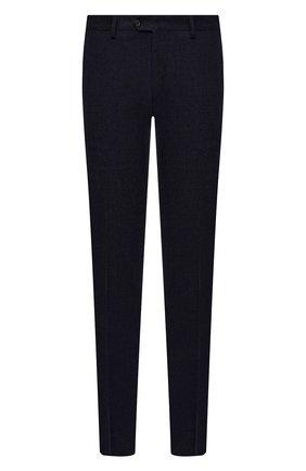 Мужские брюки из шерсти и кашемира MARCO PESCAROLO темно-синего цвета, арт. SLIM80/ZIP/4431 | Фото 1