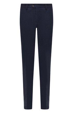 Мужские брюки из шерсти и кашемира MARCO PESCAROLO синего цвета, арт. SLIM80/ZIP/4431 | Фото 1