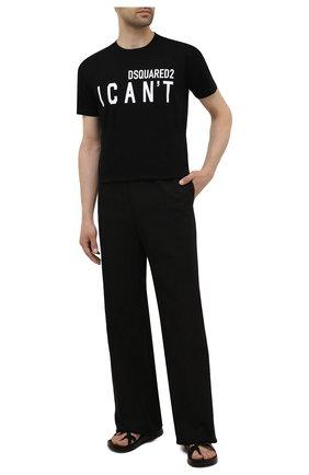 Мужская хлопковая футболка DSQUARED2 черного цвета, арт. S74GD0859/S23009   Фото 2