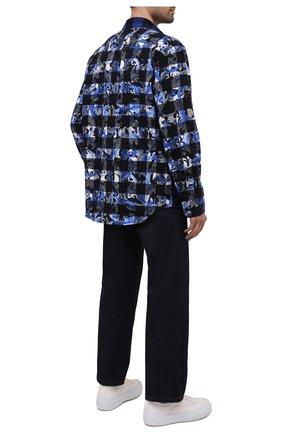 Мужская хлопковая рубашка VERSACE синего цвета, арт. 1000532/1A00450 | Фото 2