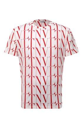 Мужская хлопковая футболка VALENTINO белого цвета, арт. WV3MG08J6PE | Фото 1