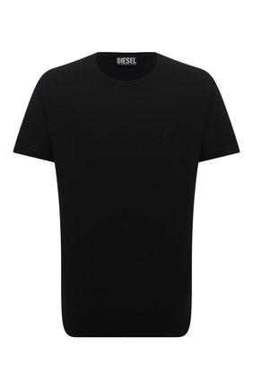 Мужская хлопковая футболка DIESEL черного цвета, арт. A02755/0WBBH | Фото 1