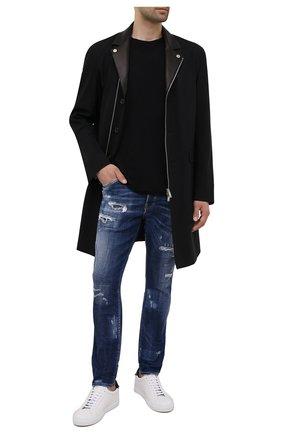 Мужская хлопковая футболка DIESEL черного цвета, арт. A02755/0WBBH | Фото 2