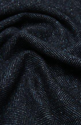 Мужской шарф из шерсти и шелка ERMENEGILDO ZEGNA темно-синего цвета, арт. Z2L06S/26F | Фото 2