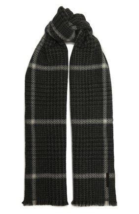 Мужской кашемировый шарф ERMENEGILDO ZEGNA темно-серого цвета, арт. Z2L03S/22A | Фото 1