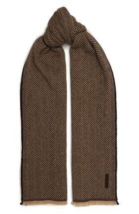 Мужской кашемировый шарф ERMENEGILDO ZEGNA светло-коричневого цвета, арт. Z2L03S/22A | Фото 1