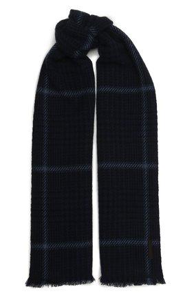 Мужской кашемировый шарф ERMENEGILDO ZEGNA темно-синего цвета, арт. Z2L03S/22A | Фото 1