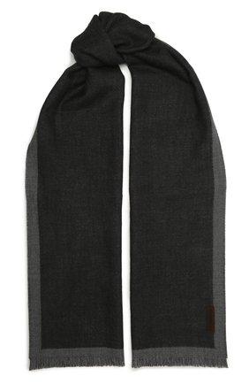 Мужской шерстяной шарф ERMENEGILDO ZEGNA темно-серого цвета, арт. Z2L01S/2YH | Фото 1