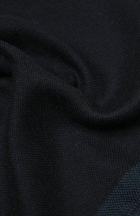 Мужской шерстяной шарф ERMENEGILDO ZEGNA темно-синего цвета, арт. Z2L01S/2YH | Фото 2