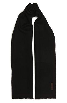Мужской шерстяной шарф ERMENEGILDO ZEGNA черного цвета, арт. Z2L01S/2YH | Фото 1