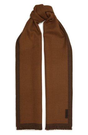 Мужской шерстяной шарф ERMENEGILDO ZEGNA коричневого цвета, арт. Z2L01S/2YH | Фото 1
