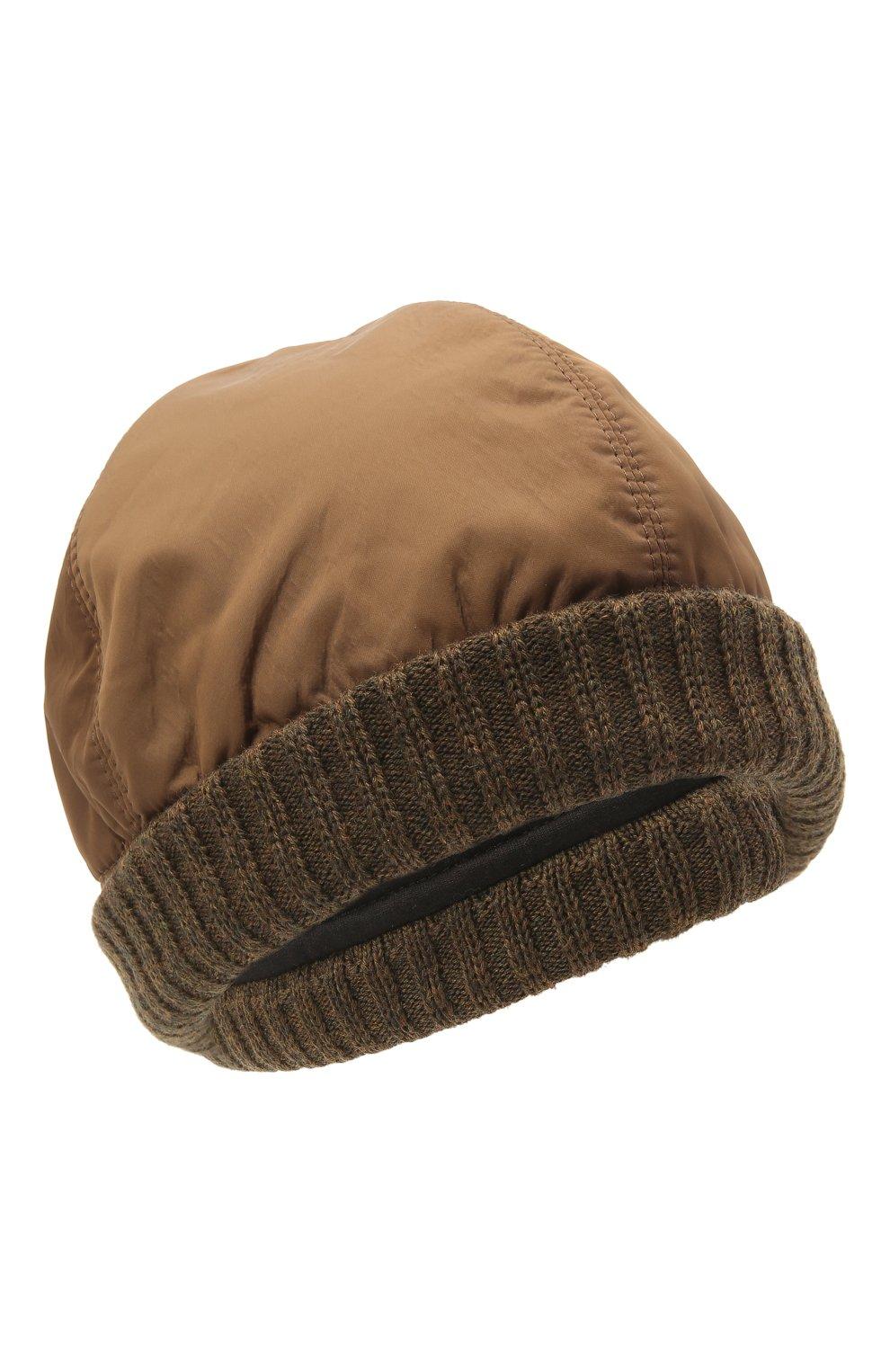 Мужская утепленная шапка Z ZEGNA светло-коричневого цвета, арт. Z2I74H/B2W | Фото 1 (Материал: Текстиль)