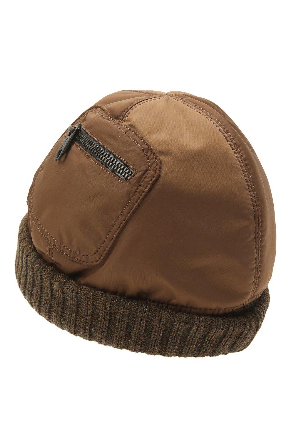 Мужская утепленная шапка Z ZEGNA светло-коричневого цвета, арт. Z2I74H/B2W | Фото 2 (Материал: Текстиль)
