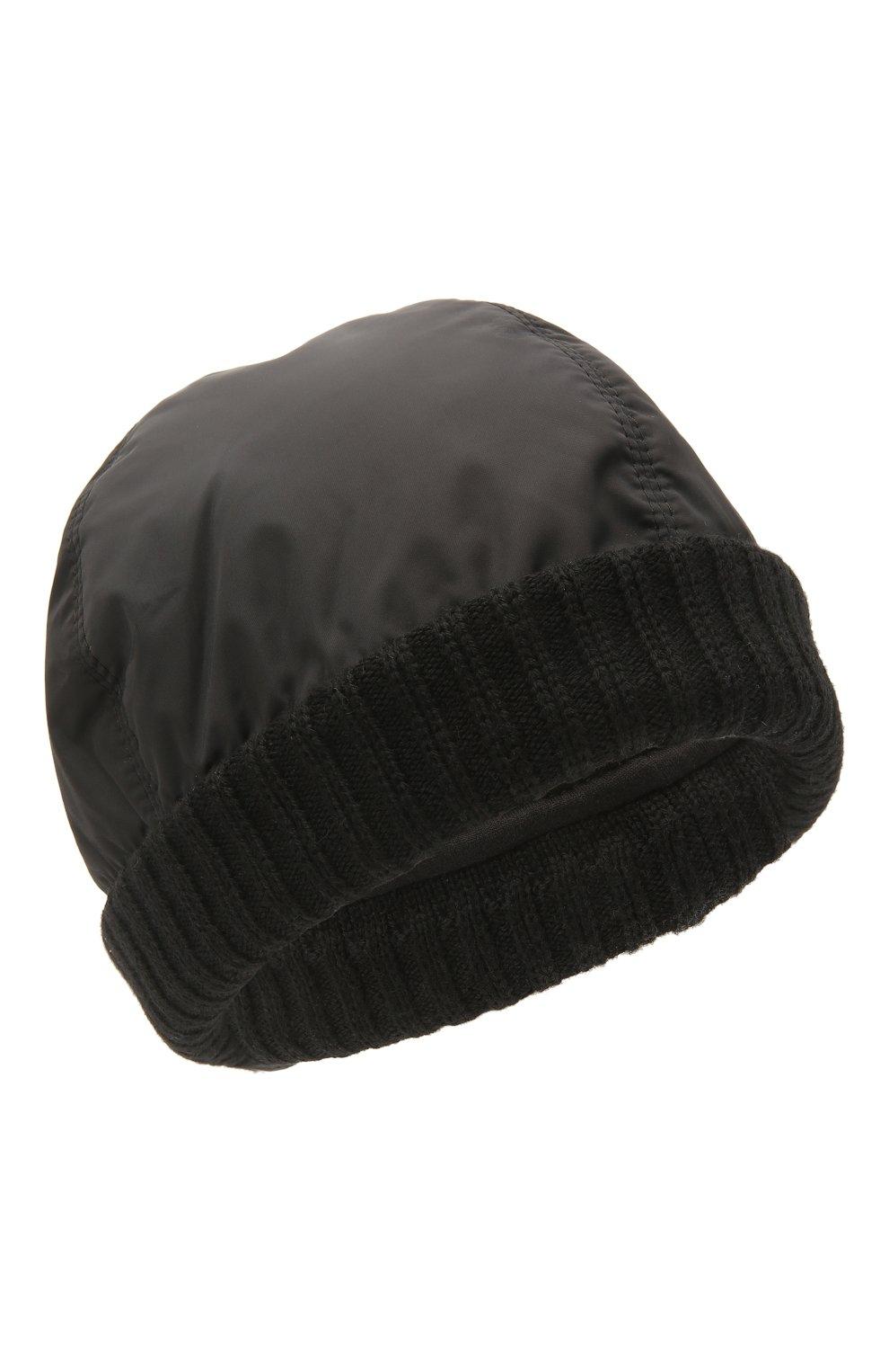 Мужская утепленная шапка Z ZEGNA черного цвета, арт. Z2I74H/B2W | Фото 1 (Материал: Текстиль; Кросс-КТ: Трикотаж)