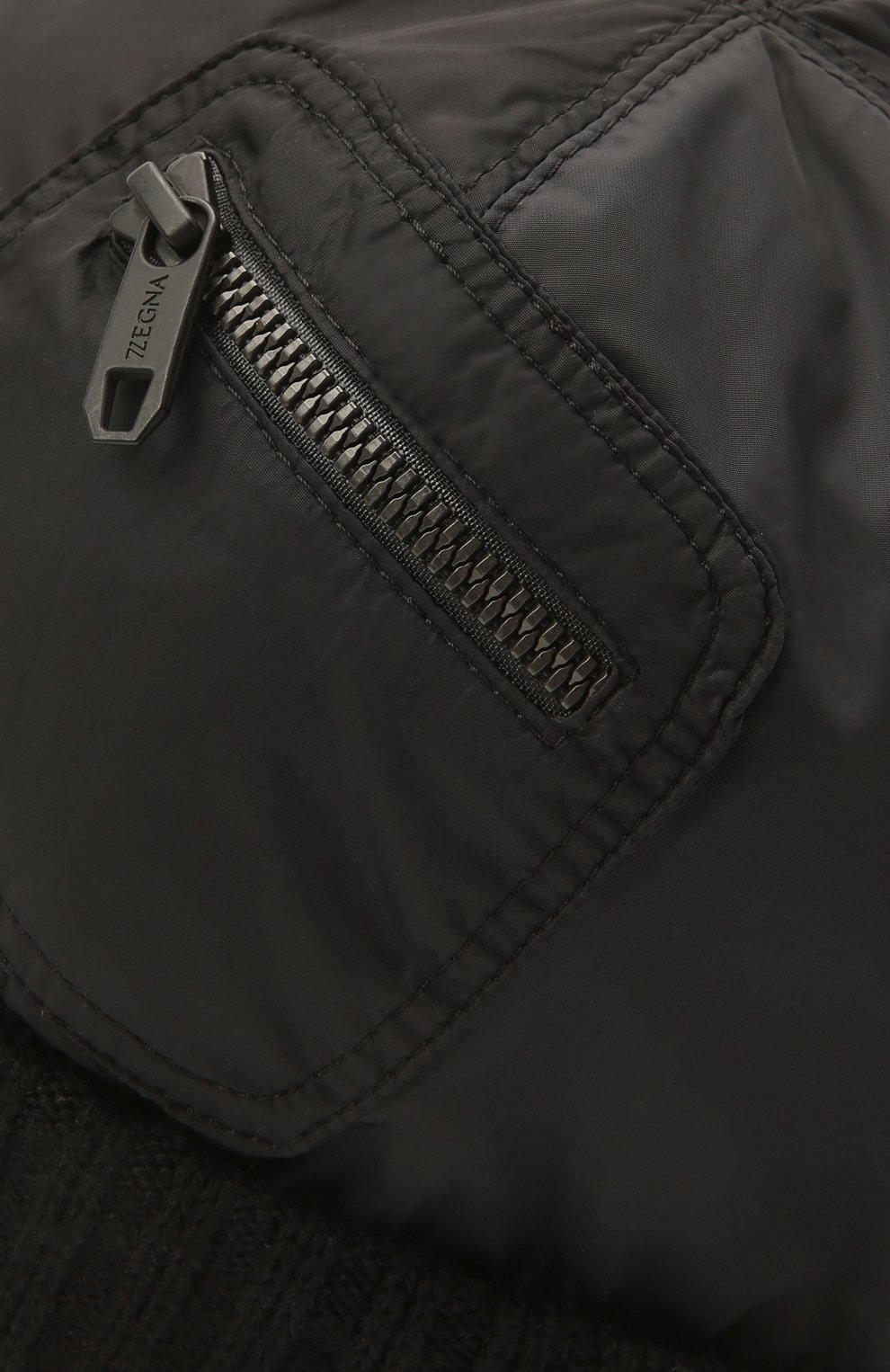 Мужская утепленная шапка Z ZEGNA черного цвета, арт. Z2I74H/B2W | Фото 3 (Материал: Текстиль; Кросс-КТ: Трикотаж)