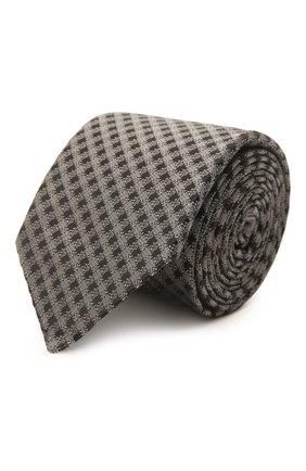Мужской шелковый галстук ERMENEGILDO ZEGNA серого цвета, арт. Z2E60T/16Y   Фото 1