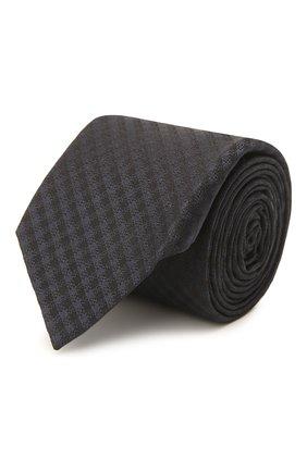 Мужской шелковый галстук ERMENEGILDO ZEGNA темно-синего цвета, арт. Z2E60T/16Y   Фото 1