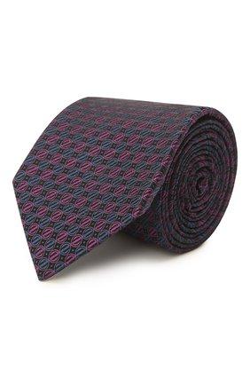 Мужской шелковый галстук ERMENEGILDO ZEGNA фиолетового цвета, арт. Z2E01T/1L8 | Фото 1 (Материал: Текстиль, Шелк; Принт: С принтом)