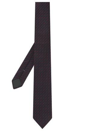Мужской шелковый галстук ERMENEGILDO ZEGNA фиолетового цвета, арт. Z2E01T/1L8 | Фото 2 (Материал: Текстиль, Шелк; Принт: С принтом)