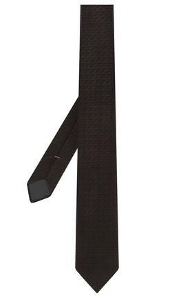 Мужской шелковый галстук ERMENEGILDO ZEGNA коричневого цвета, арт. Z2E01T/1L8   Фото 2