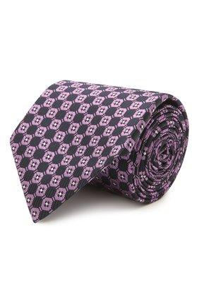 Мужской шелковый галстук ERMENEGILDO ZEGNA сиреневого цвета, арт. Z2D83T/1UM   Фото 1