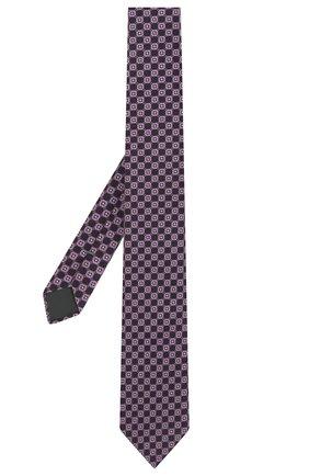 Мужской шелковый галстук ERMENEGILDO ZEGNA сиреневого цвета, арт. Z2D83T/1UM | Фото 2