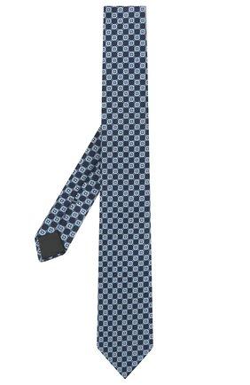 Мужской шелковый галстук ERMENEGILDO ZEGNA голубого цвета, арт. Z2D83T/1UM | Фото 2