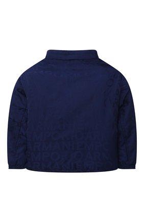 Детского куртка EMPORIO ARMANI синего цвета, арт. 6KHBP9/1NWEZ   Фото 2