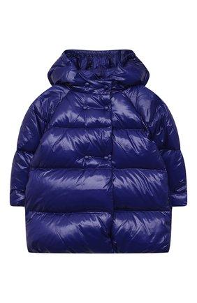 Детского пуховое пальто EMPORIO ARMANI синего цвета, арт. 6KEL08/1NWPZ   Фото 1