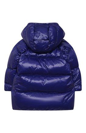 Детского пуховое пальто EMPORIO ARMANI синего цвета, арт. 6KEL08/1NWPZ   Фото 2