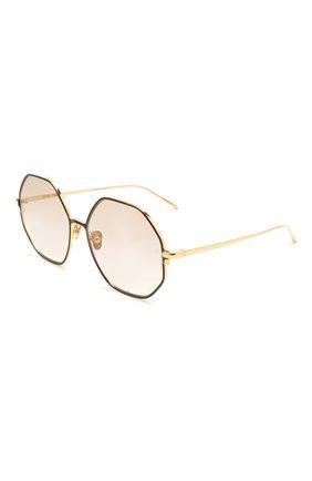 Женские солнцезащитные очки LINDA FARROW коричневого цвета, арт. LFL1148C2 SUN   Фото 1