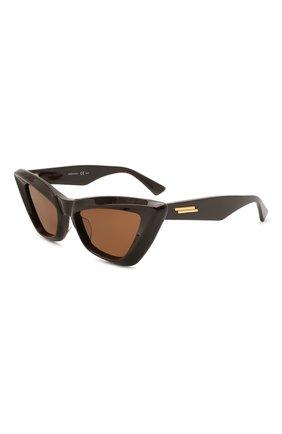 Женские солнцезащитные очки BOTTEGA VENETA темно-коричневого цвета, арт. BV1101S 001 | Фото 1