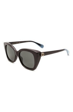 Женские солнцезащитные очки GUCCI темно-коричневого цвета, арт. GG0921S 004 | Фото 1