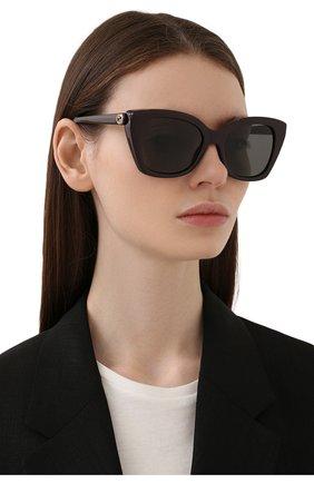 Женские солнцезащитные очки GUCCI темно-коричневого цвета, арт. GG0921S 004 | Фото 2
