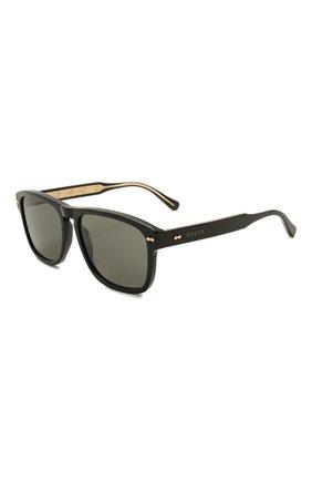 Женские солнцезащитные очки GUCCI темно-коричневого цвета, арт. GG0911S 001 | Фото 1