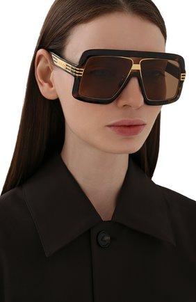 Женские солнцезащитные очки GUCCI коричневого цвета, арт. GG0900S 002 | Фото 2