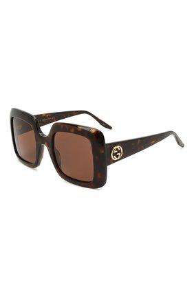 Женские солнцезащитные очки GUCCI коричневого цвета, арт. GG0896S 002 | Фото 1